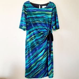 North Style Sheath Midi Jersey Dress Sz 14